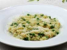 Groszkowe risotto