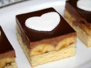 Bananowo - czekoladowe ciasto