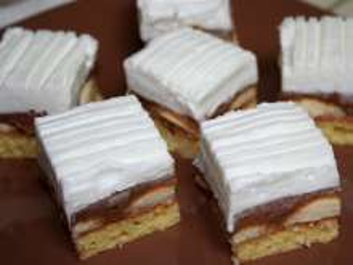 Zaśnieżone ciasto biszkoptowe