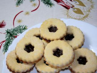 Kruche linieckie ciasteczka