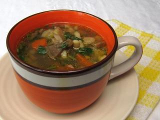 Zupa z boczniaków z kluseczkami