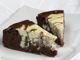 Twarogowo - kakaowe ciasto