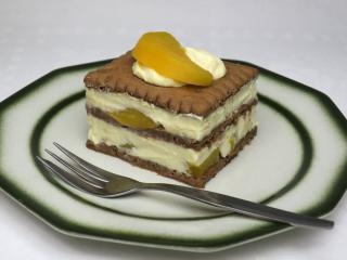 Twarogowo-brzoskwiniowy deser bez pieczenia