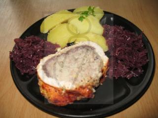Indycze piersi faszerowane mielonym mięsem i ryżem
