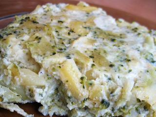 Brokułowa ziemniaczana zapiekanka