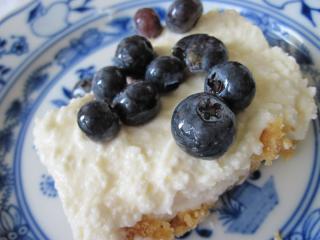 Domowy Cheesecake z borówkami