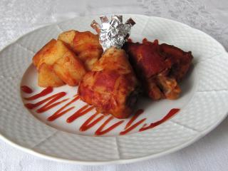 Pieczony kurczak z ziemniakami na keczupie