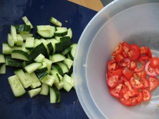 Pomidory i ogórek