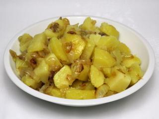 Cebulowe gotowane ziemniaki