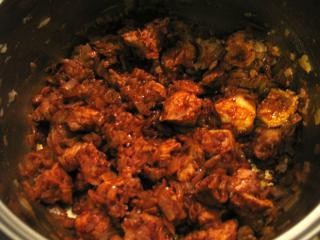 Przygotowanie mięsnego podkładu