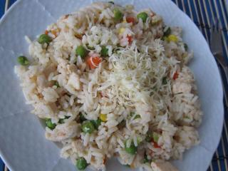 Drobiowe risotto z warzywami