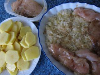 Przygotowanie piersi z kurczaka i ziemniaków