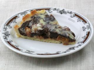 Mandarynkowo-ananasowe czekoladowe ciasto