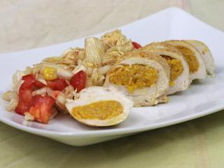 Piersi z kurczaka faszerowane dyniowym pesto