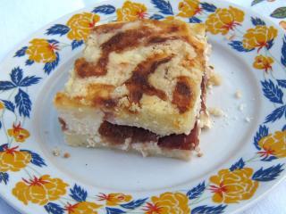 Twarogowe sypane ciasto