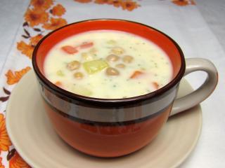 Zupa z ciecierzycy i mleka