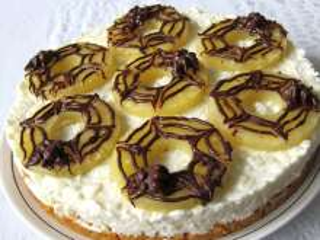 Halloweenowy tort twarogowo-ryżowy bez pieczenia
