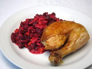 Pieczony czosnkowy kurczak
