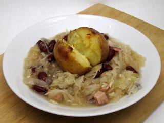 Kapuściano - fasolowa zupa