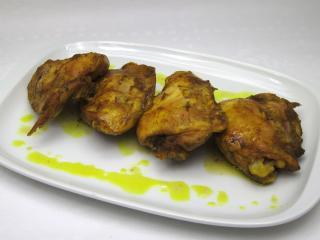 Mięso z kurczaka na kurkumie