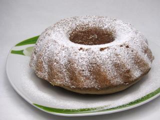 Kukurydziana babka z kasztanowym puree