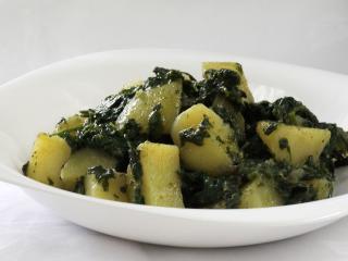 Szpinakowe ziemniaki