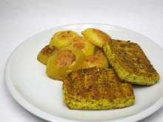 Curry czosnkowe grillowane tofu
