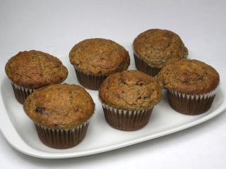 Orkiszowo - bananowe muffiny