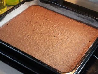Biszkoptowe kakaowe ciasto