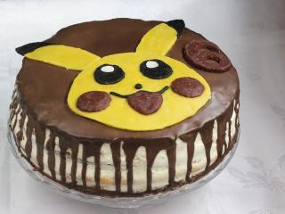 Dekoracja na tort Pikachu