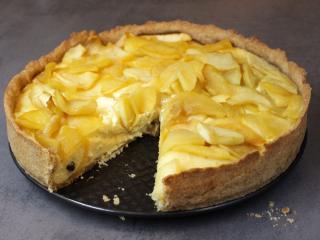 Twarogowo miodowe ciasto z jabłkami