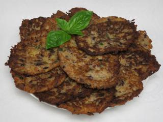 Fasolowo ziemniaczane placki z bazylią