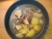 Zupa z boczniaków z parowaru