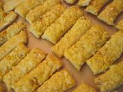 Paluszki serowe z ciasta francuskiego