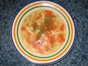 Zupa warzywna z wykorzystaniem wywaru z parowaru
