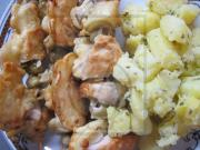 Szaszłyki z pieczarkami i mięsem z kurczaka