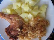Udka z kurczaka na kiszonej kapuście