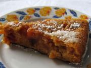 Karmelowo - nektarynkowe odwrócone ciasto