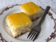 Kokosowe ciasto z pomarańczową polewą