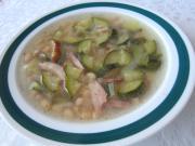 Cukiniowo - fasolowa zupa
