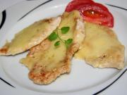 Piersi z kurczaka zapieczone z serem i śmietaną.