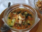 Soczewicowa zupa z grzankami