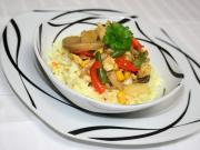Kolorowe mięsno warzywne saute