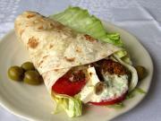 Grecki wrap z kurczakiem