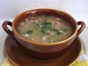Garściowa zupa z szynką