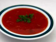 Zupa pomidorowa z młodą cebulką