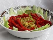 Ryżowy makaron z warzywami