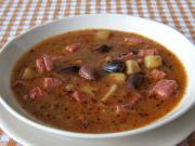 Zupa z dużej pstrokatej fasoli