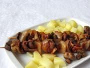 Mięsno-grzybowe szaszłyki