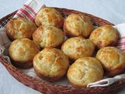 Muffiny - pogacze ze skwarkami